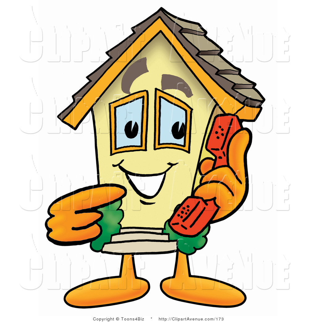 1024x1044venue Clipart Of Yellow Home Mascot Cartoon Character Holding