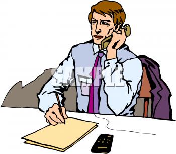 350x306 Business Phone Clip Art