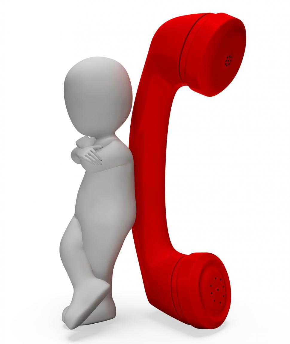 970x1150 Free Stock Photo Of Character Phone Means Call Now And Calls 3d