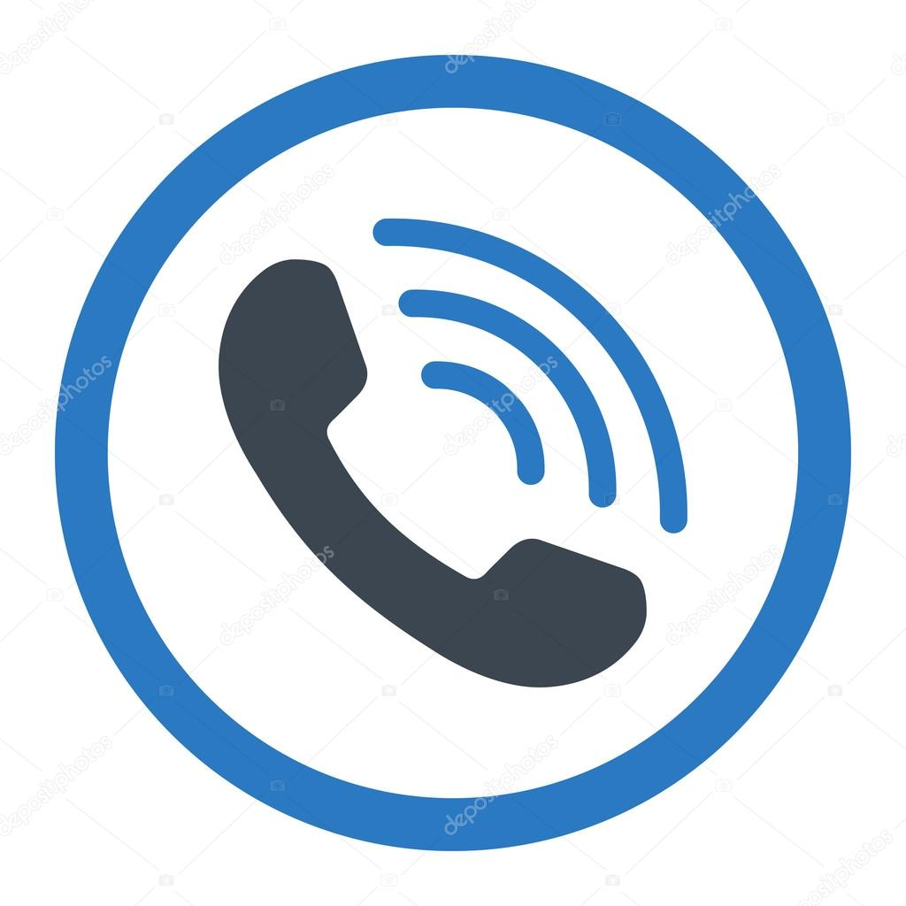 1024x1024 Phone Call Rounded Vector Icon Stock Vector Ahasoft