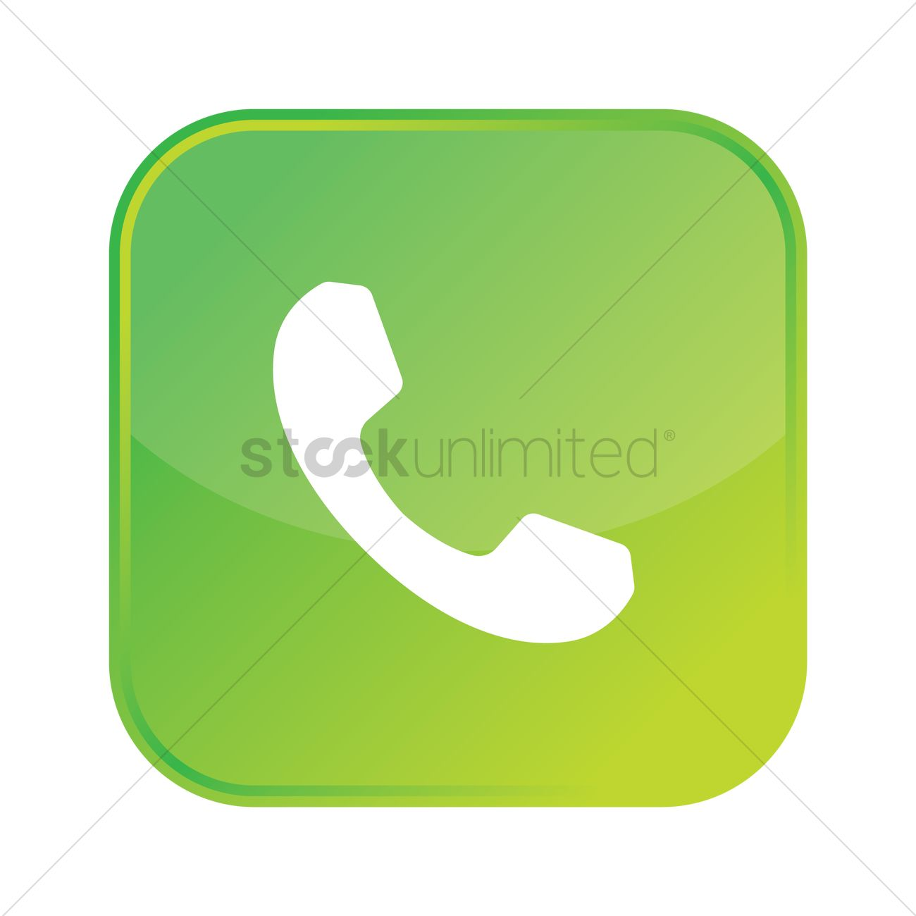 1300x1300 Phone Call Icon Vector Image
