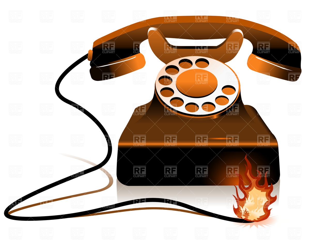 1200x960 Retro Clipart Phone Call