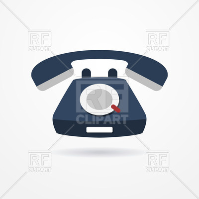400x400 Old Blue Phone Icon Free Vector Clip Art Image