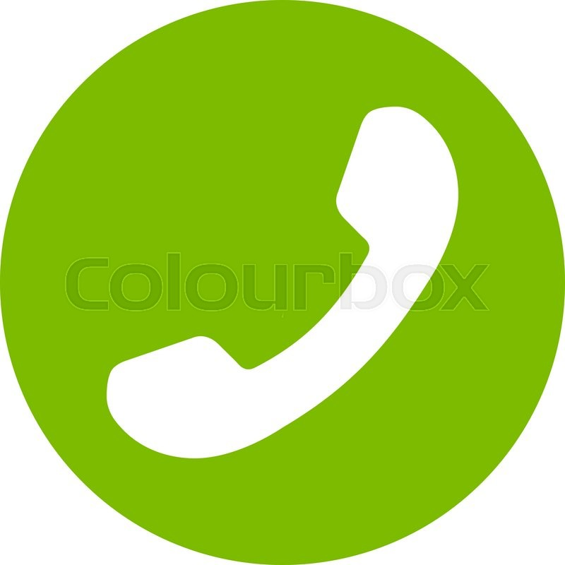800x800 Phone Number Vector Icon. Style Is Flat Symbol, Eco Green Color