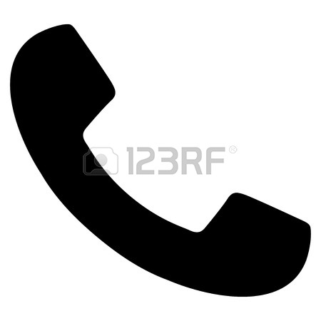 450x450 Phone Receiver Flat Vector Icon With Colored Versions. Color