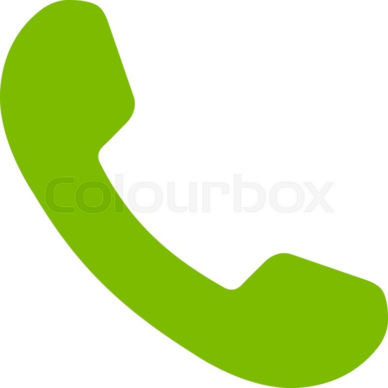 800x800 Phone Receiver Vector Icon. Style Is Flat Symbol, Eco Green Color