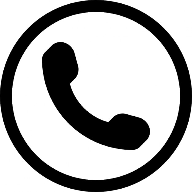 626x626 Auricular Phone Symbol In A Circle Icons Free Download