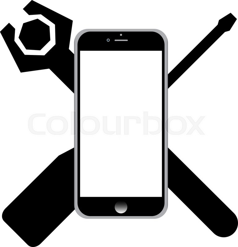 769x800 Repair Phone Icon. One Of Set Web Icons Stock Vector Colourbox