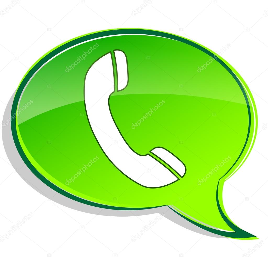 1024x980 Vector Green Phone Icon Bubble Stock Vector Nickylarson