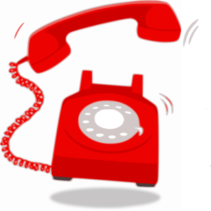 297x298 Ringing Red Telephone Clip Art