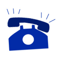 200x200 Ringing Telephone Clipart