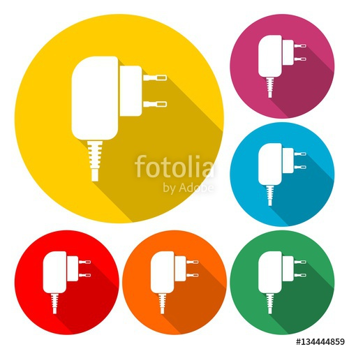 500x500 Charger For Phone Vector Icon Stock Image And Royalty Free Vector