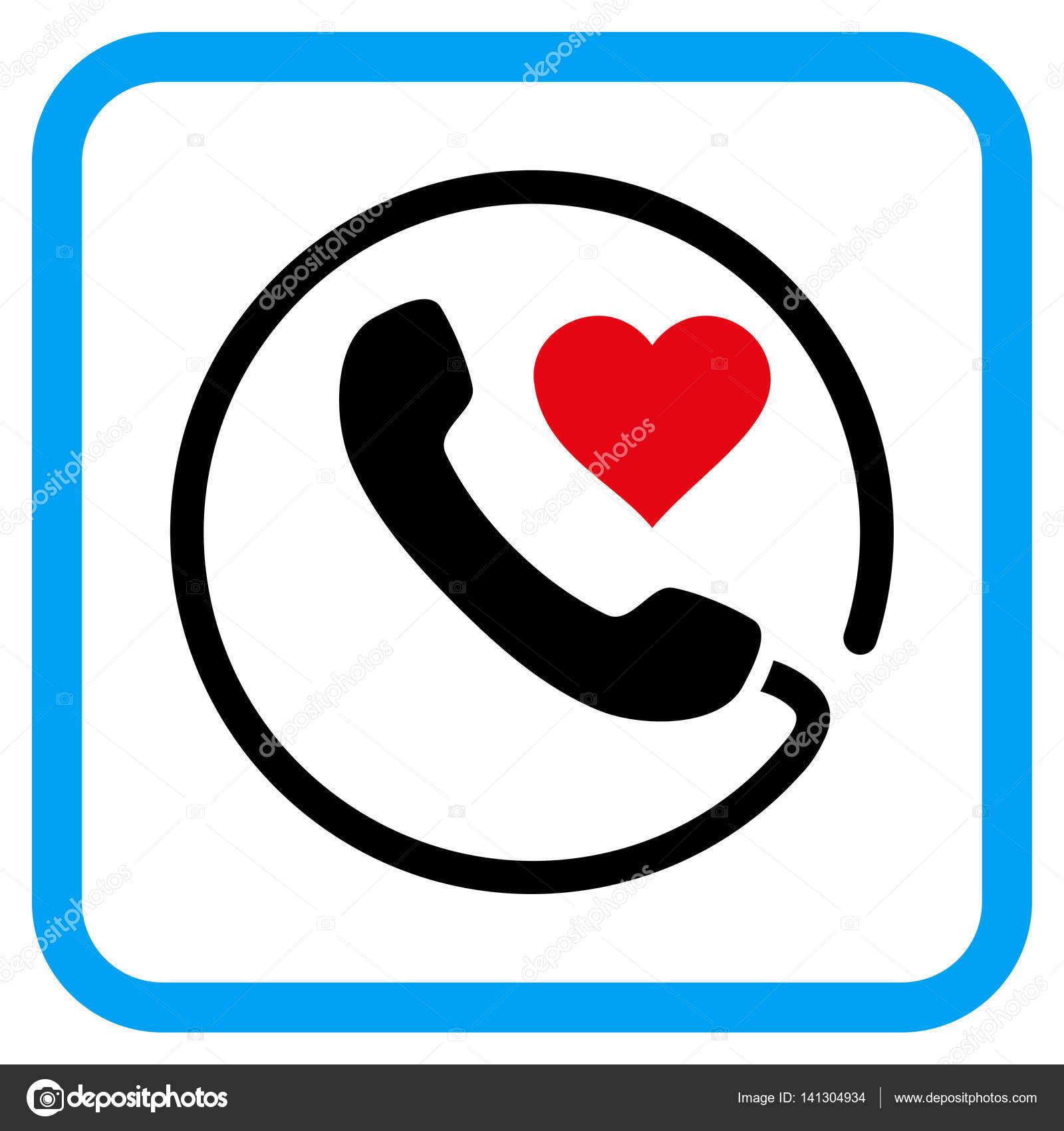 1600x1700 Love Phone Vector Icon In A Frame Stock Vector Anastasyastocks