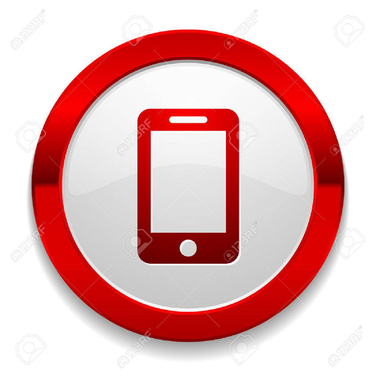 1300x1300 Phone Icon Red. Phone Icons Message Icon Red