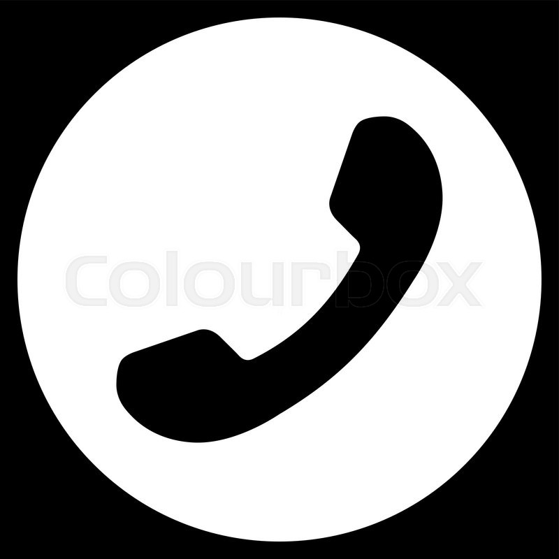 800x800 Phone Number Vector Icon. Style Is Flat Symbol, White Color