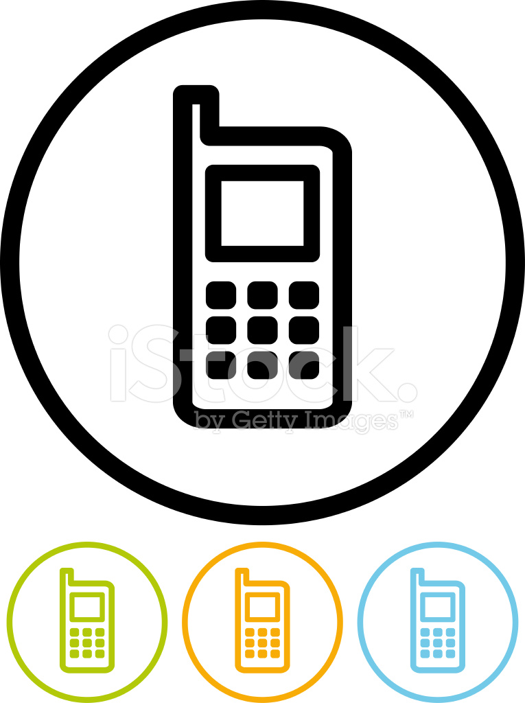 765x1024 Vector Icon Cellphone Stock Vector