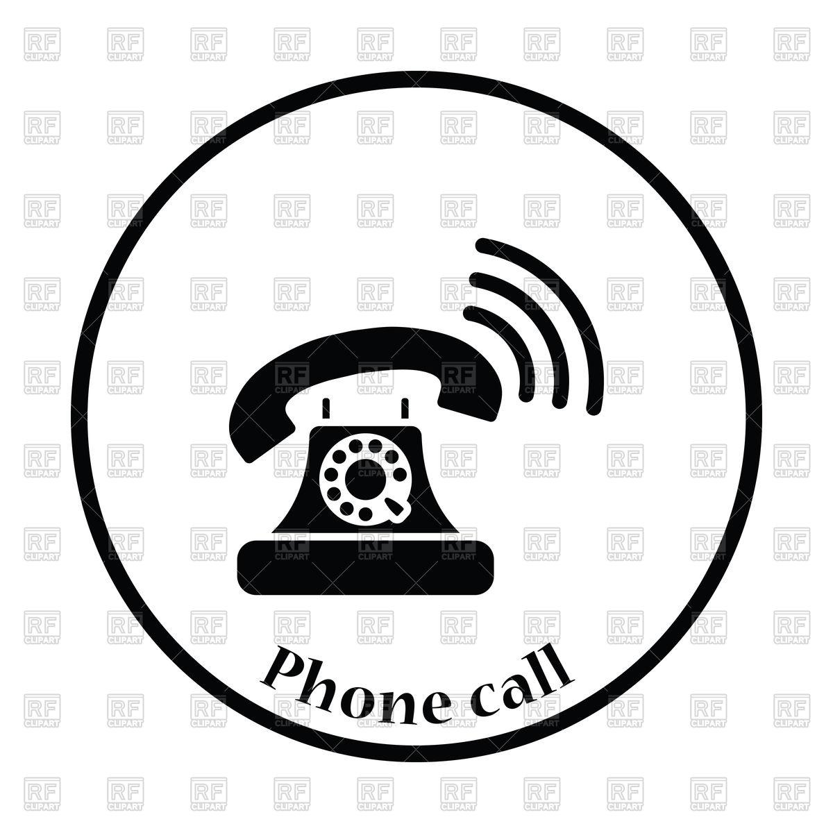 1200x1200 Black Old Telephone Icon