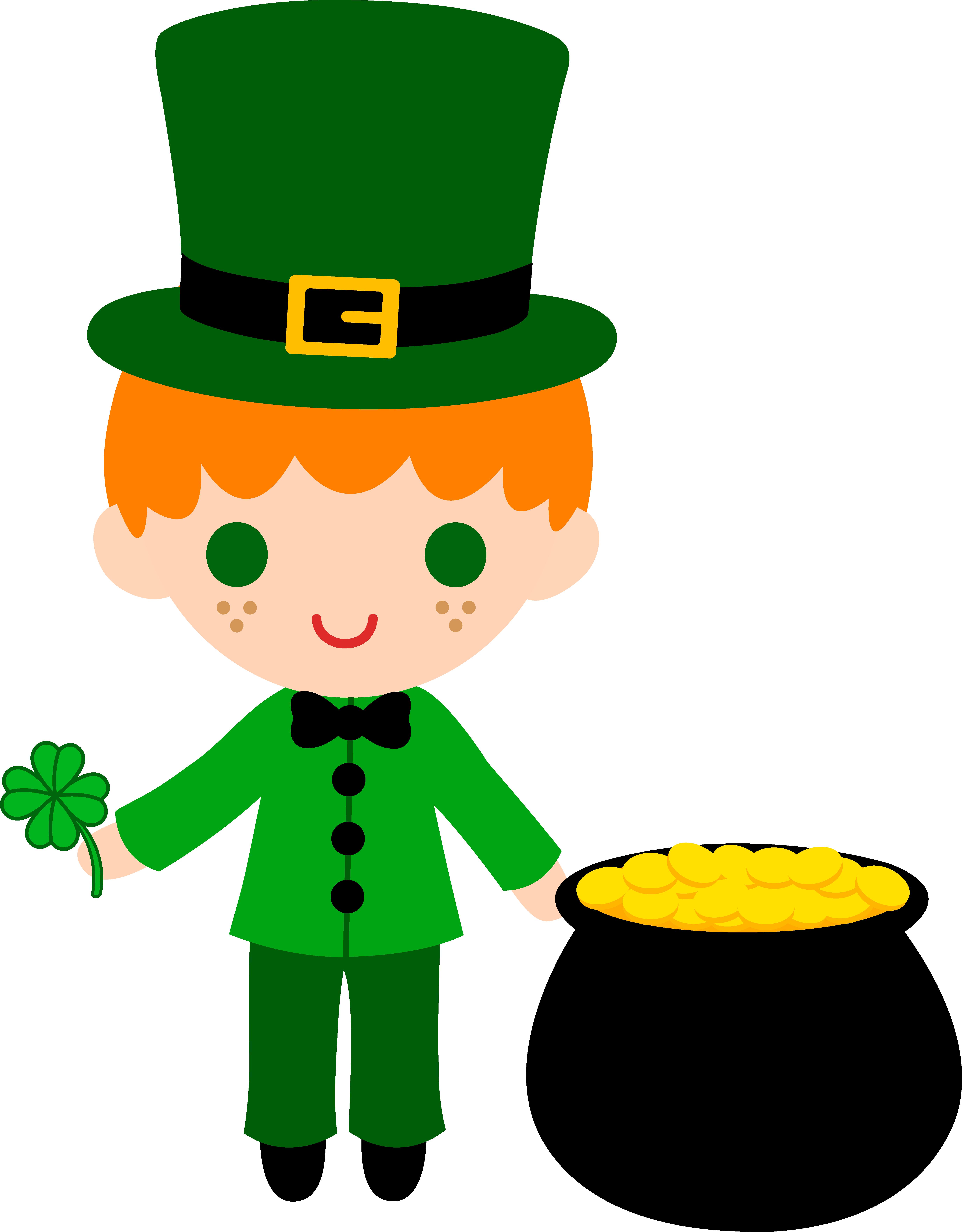 5504x7045 Leprechaun Boy With Pot Of Gold