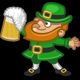 256x256 Leprechaun Irish Clip Art Image
