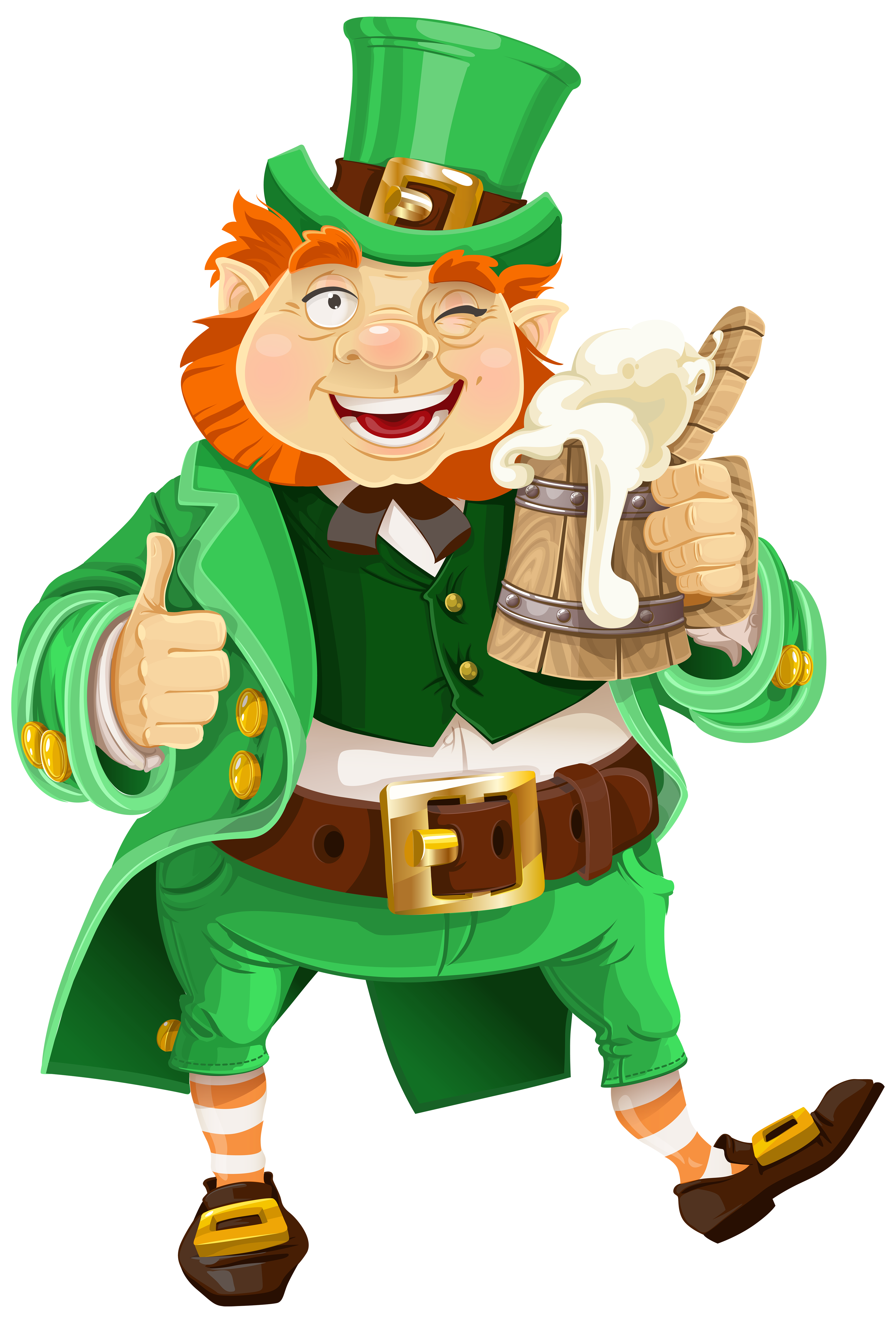 4063x6000 St Patricks Day Leprechaun With Beer Transparent Png Clip Art