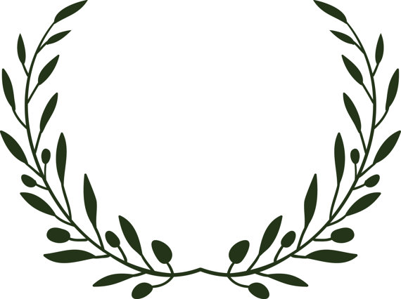 570x426 Olive Branch Wreath Svg File For Cutting By Heathershandprints