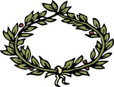 236x180 Roman Laurel Wreath Clip Art