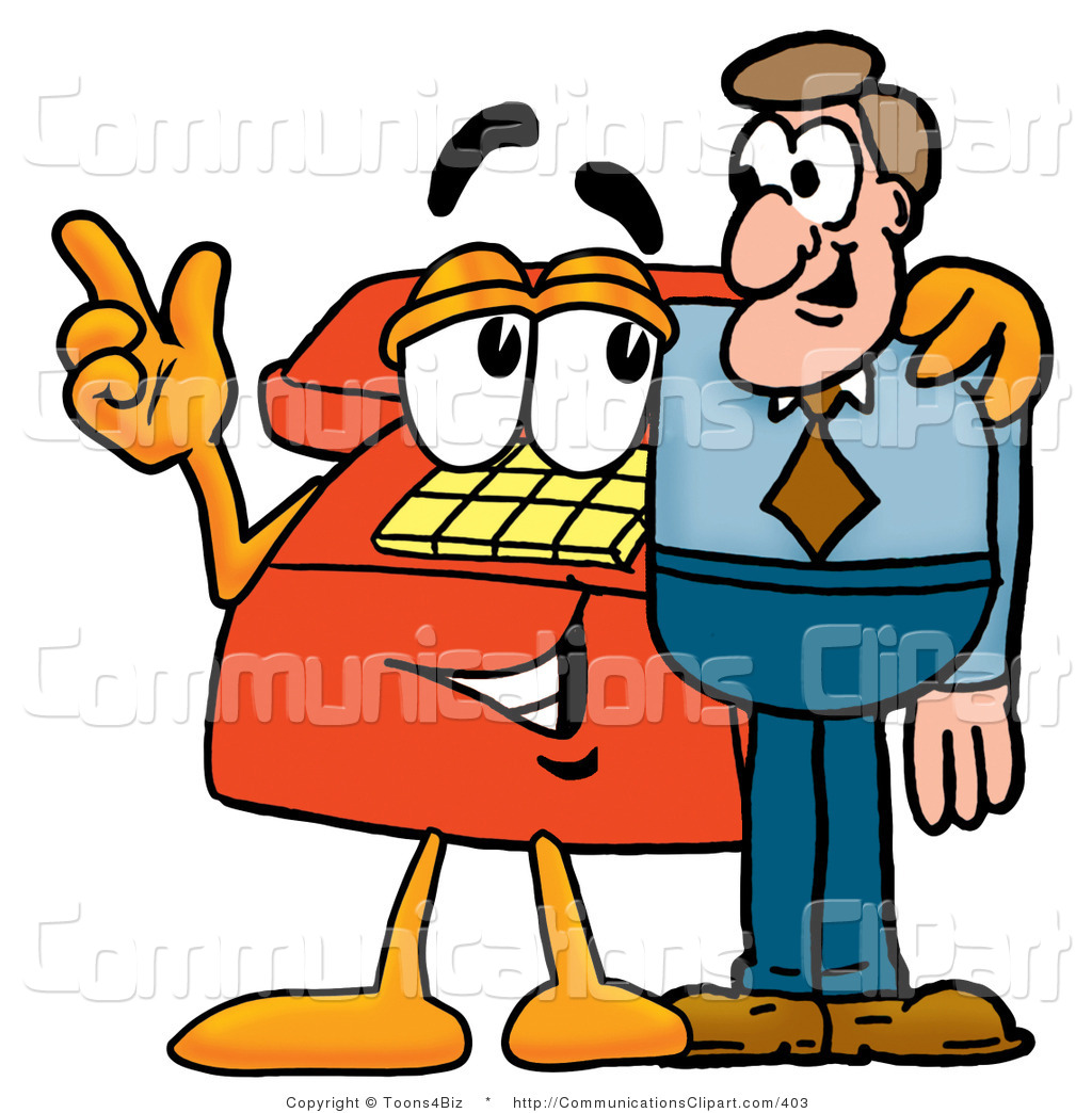 1024x1044 Communication Clipart Of A Friendly Red Telephone Mascot Cartoon