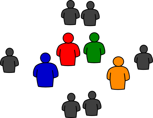 600x463 Group Of People In Round Clip Art