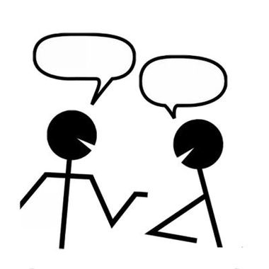 380x380 People Clipart Image Business Man And Woman Talking