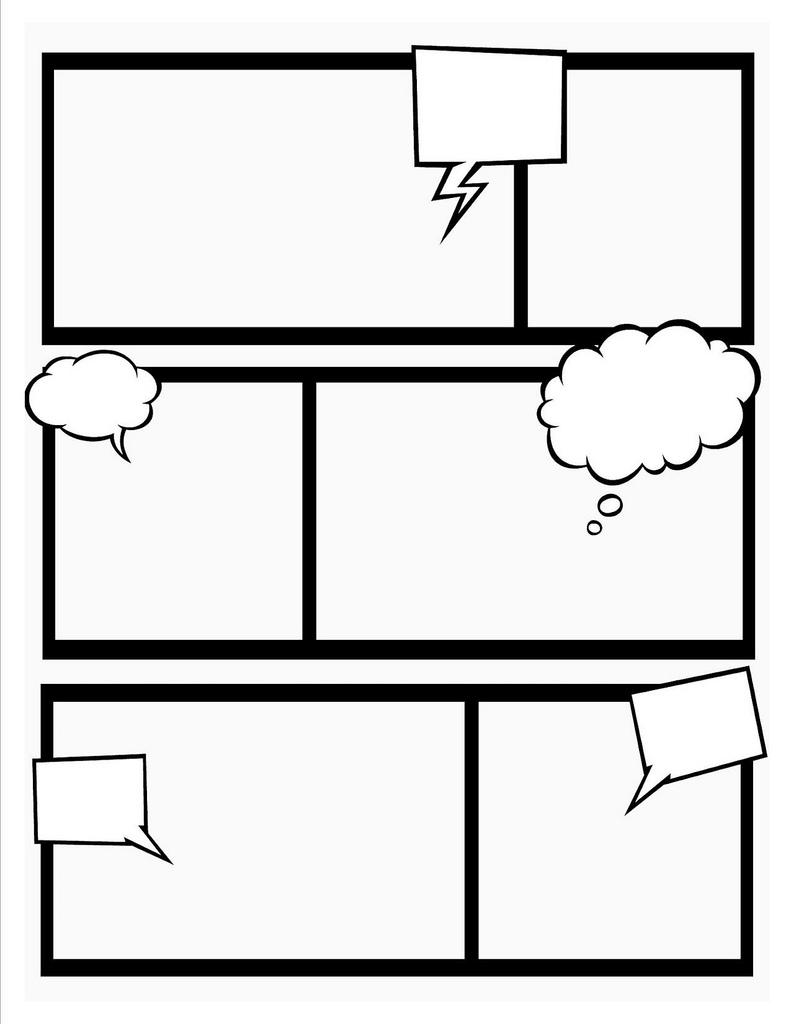 791x1024 Comic Book Template Super Hero Theme, Teacher And Activities