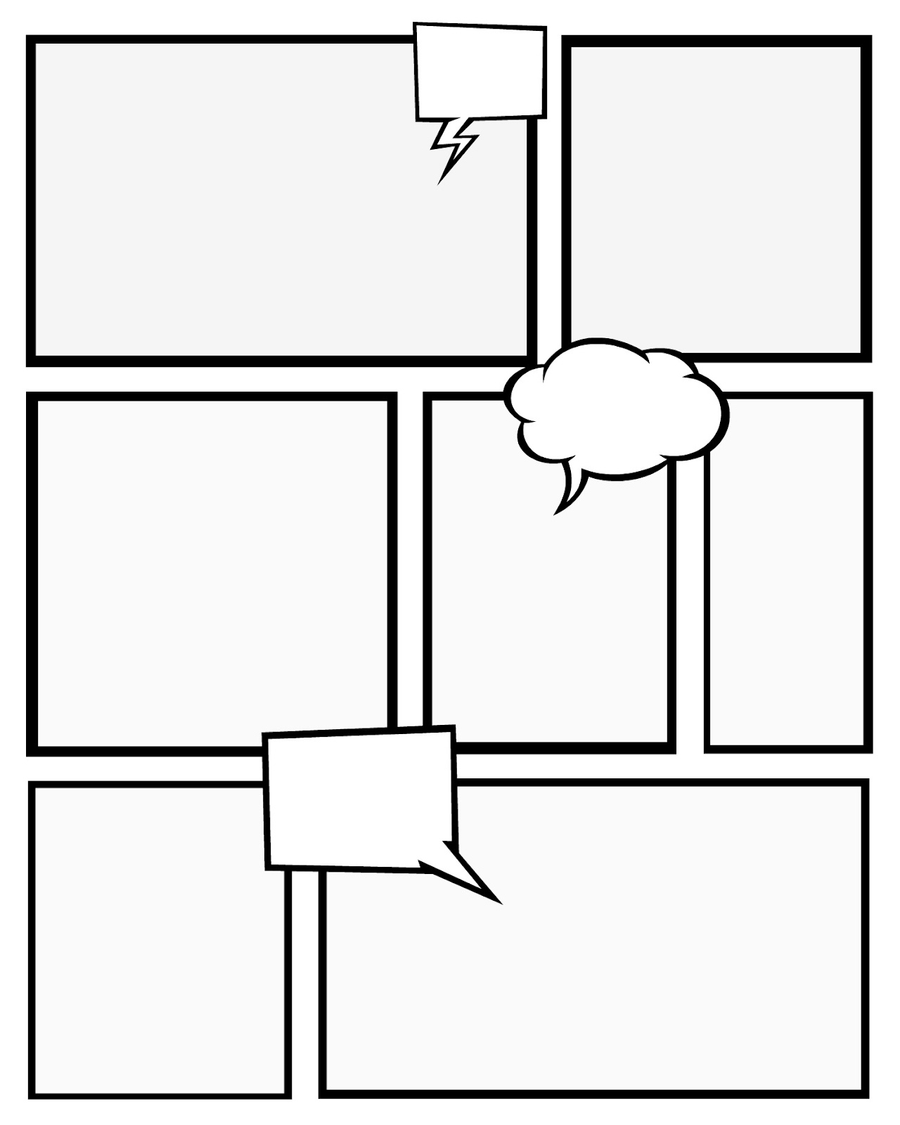 1280x1600 Comic Strip Template