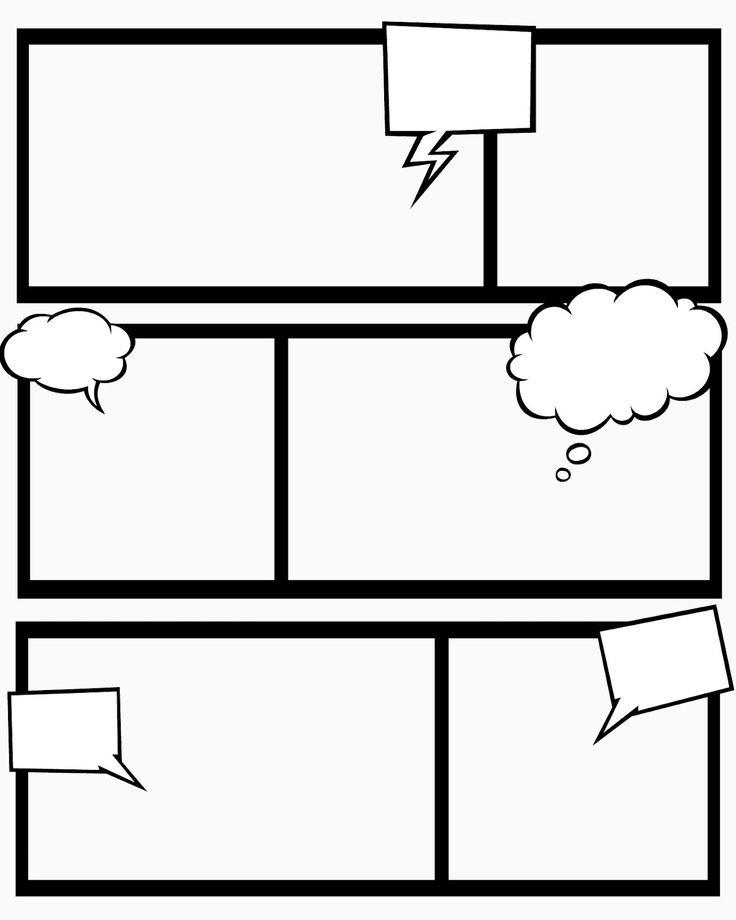 736x920 Comic Strip Template Doliquid