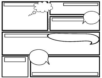 350x270 Comic Strip Template By Cloudyskiessunnymoments Shuli Goodman Tpt