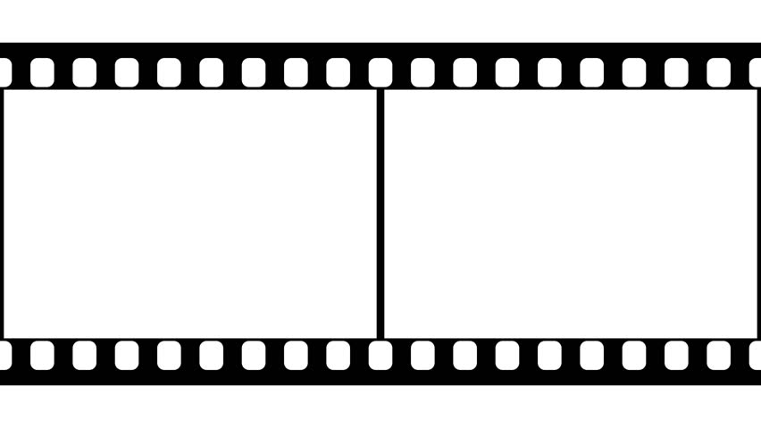 852x480 Film Strip Moveing On Green Background. Seamless Loopable Video