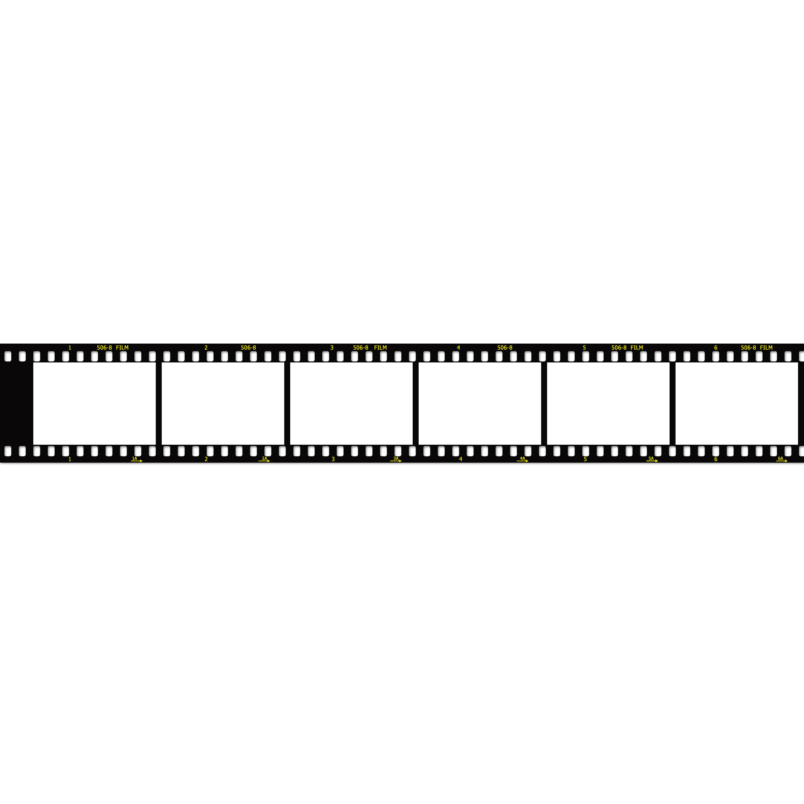 2560x2560 Film Strip Image Template (2560px Wide)