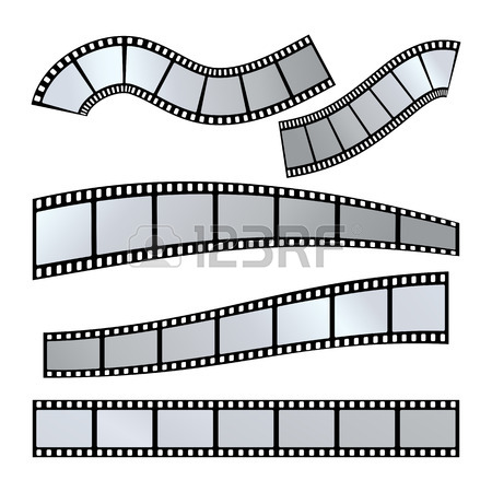 450x450 Realistic Illustration Of Film Strip On White Background. Template
