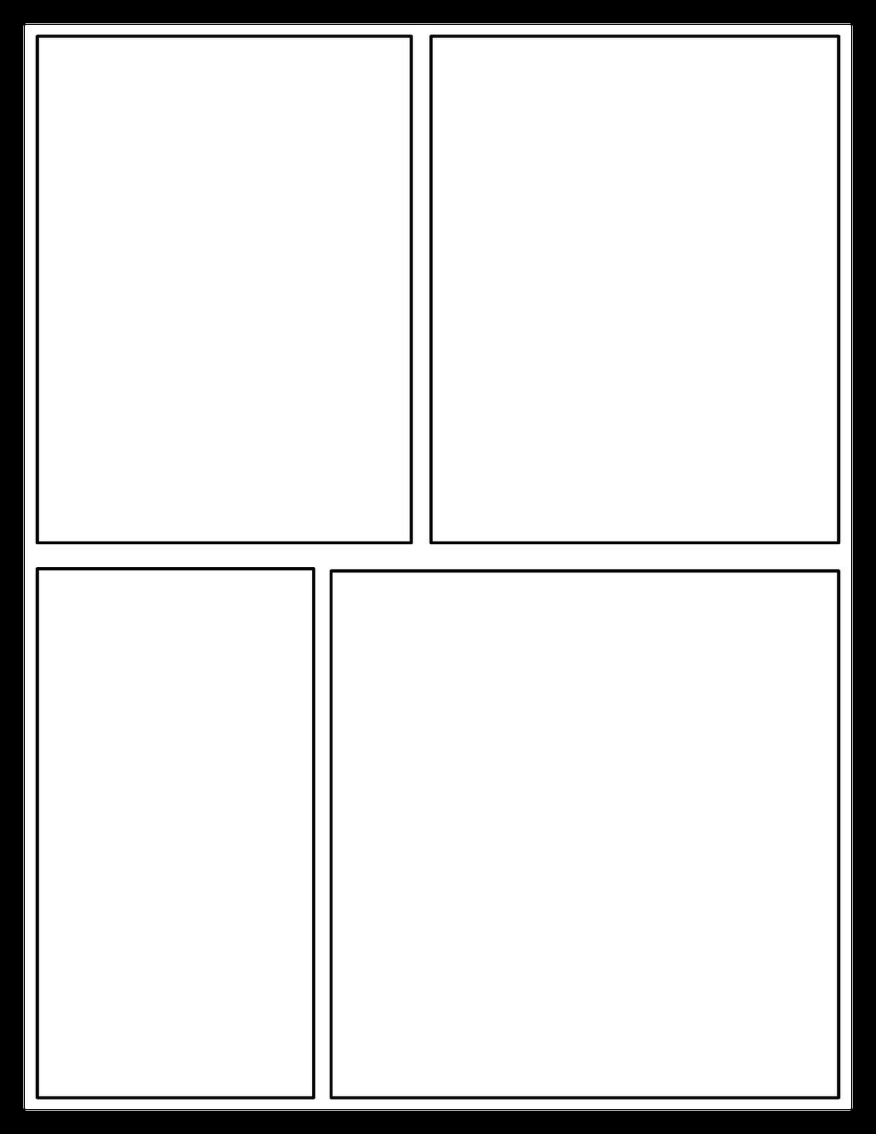 1236x1600 Template Comic Strip Template