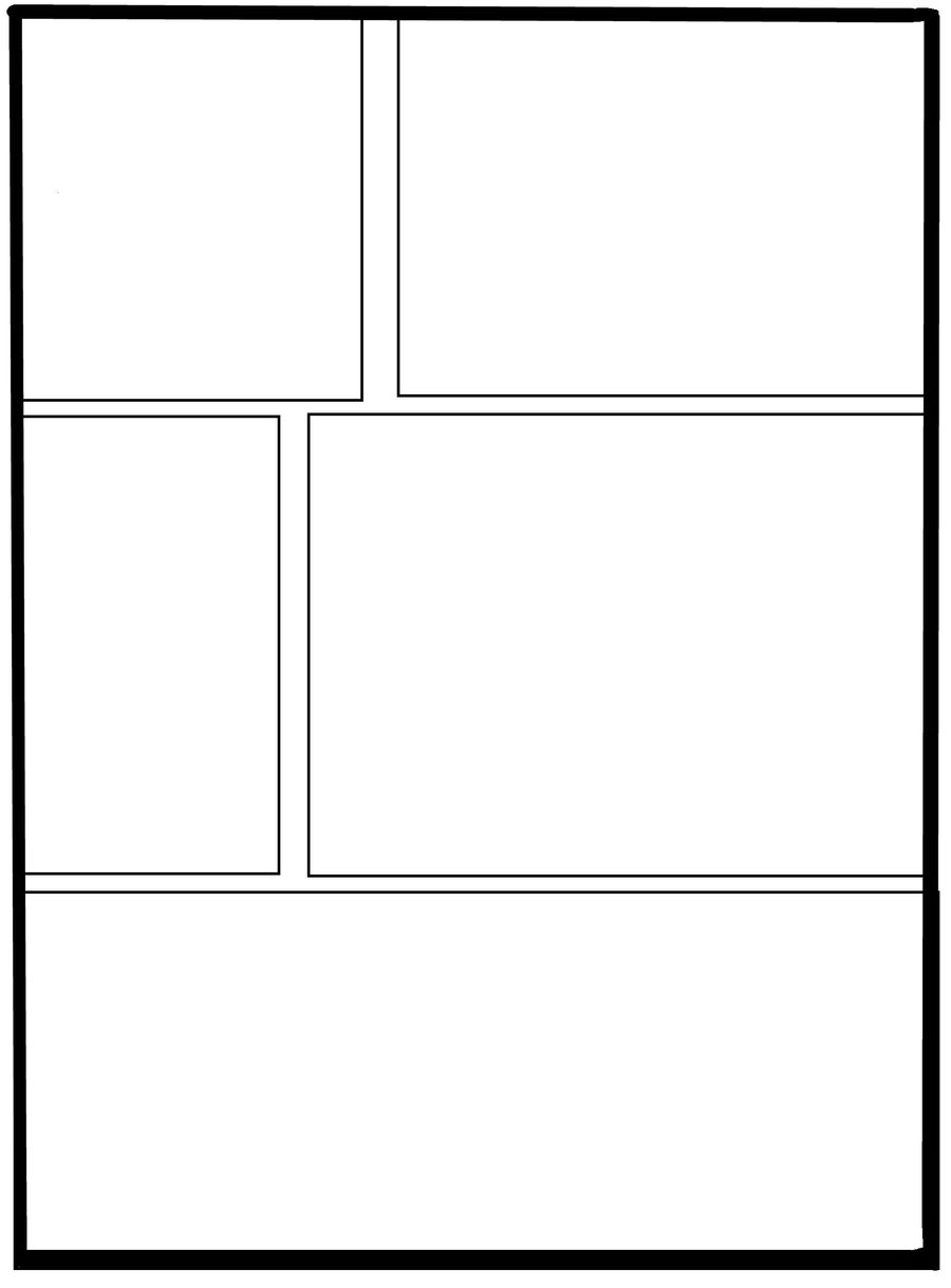 900x1218 3 Panel Comic Strip Template By Equidedesigns