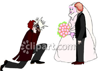 350x252 Royalty Free Clipart Image Wedding Photographer Taking