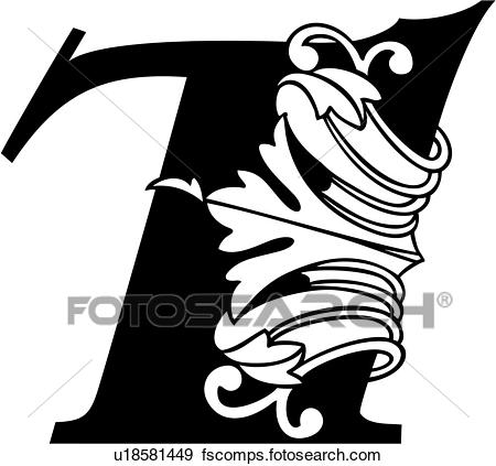 450x423 Clip Art Of , 7, Fancy Number, Hand Lettered, Ornate, U18581449