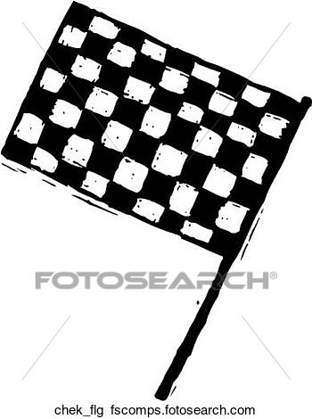 350x470 Clipart Of Checkered Flag Chek Flg