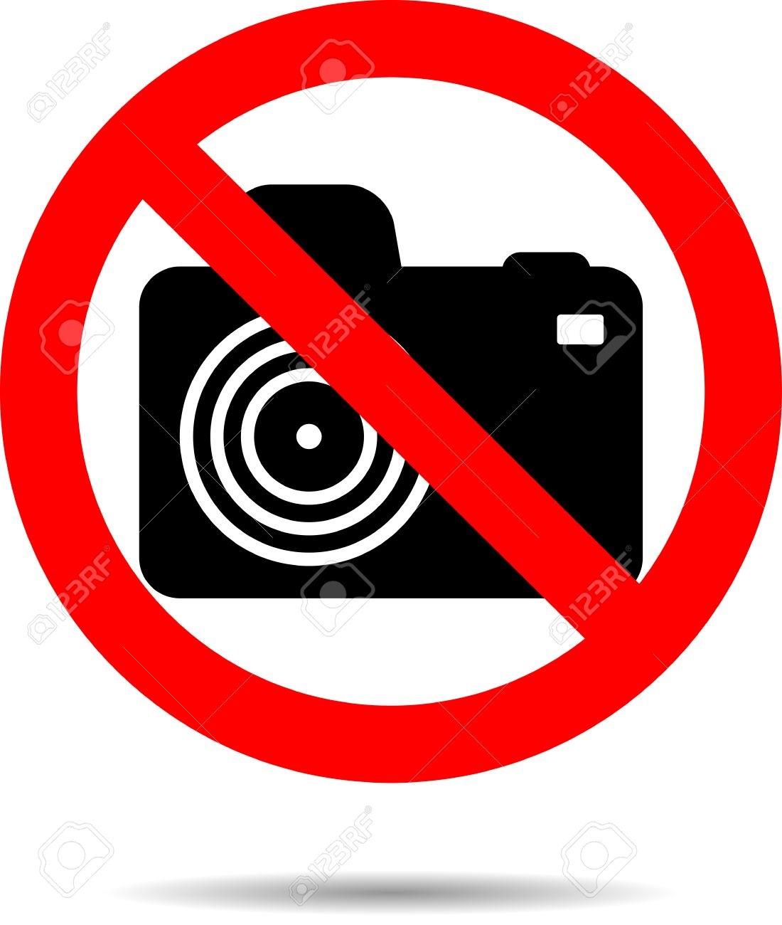 1100x1300 Ban Photo Icon Label. Photographing No Forbidden And Warning