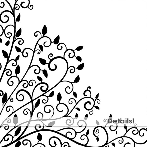 570x570 Elegant Swirl Corner Flourishes, Ornate Frame Clip Art Images +