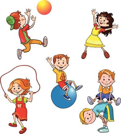 393x436 Physical Activity Children Clipart