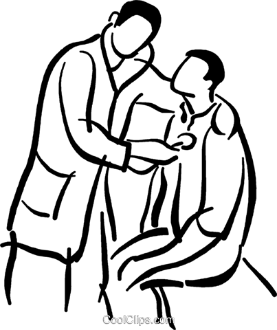 403x480 Doctor Giving A Physical Exam Royalty Free Vector Clip Art