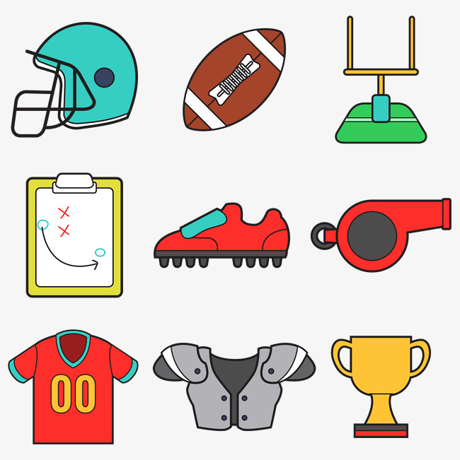 650x651 american football vector accessories, Physical Education, Movement