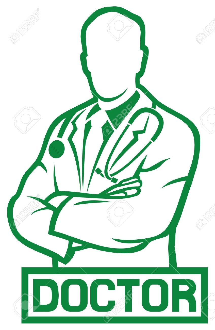 847x1300 Physician Clipart