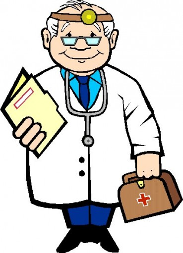 369x511 Laughing Doctor Clipart