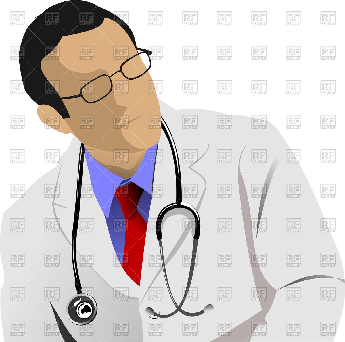1200x1190 Man Physician In Spectacles With Stethoscope On Neck Royalty Free
