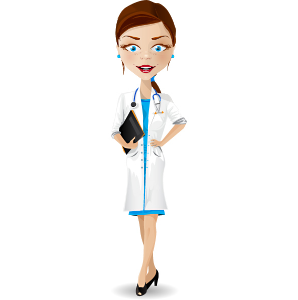 594x598 Beautiful Female Doctor Clipart